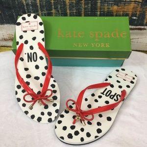 "Kate Spade Nova Flip Flops ""Spot On"" Size 11"